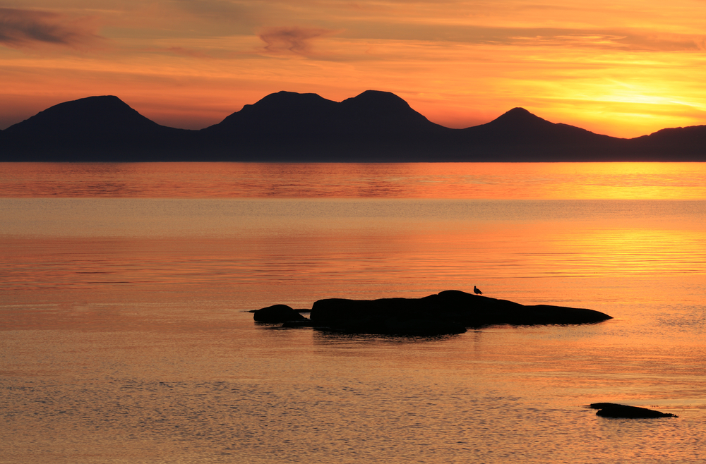 The outline the Paps of Jura.