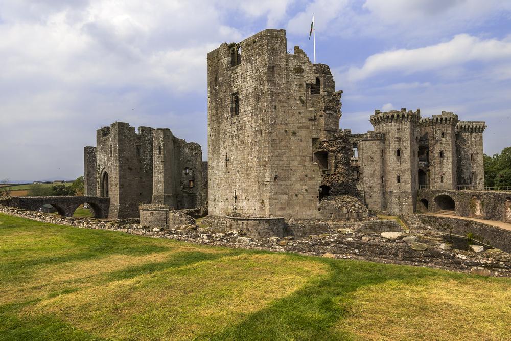 Raglan Castle in Wales.