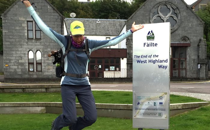 At the end of the West Highland Way