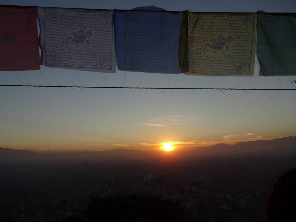 Sunrise at the Monkey Temple