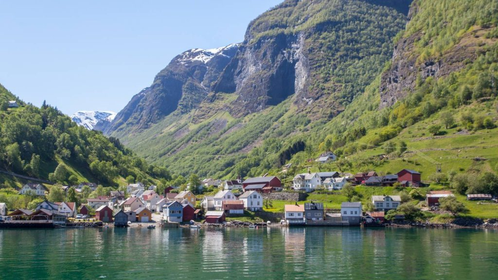 The beautiful village of Flåm