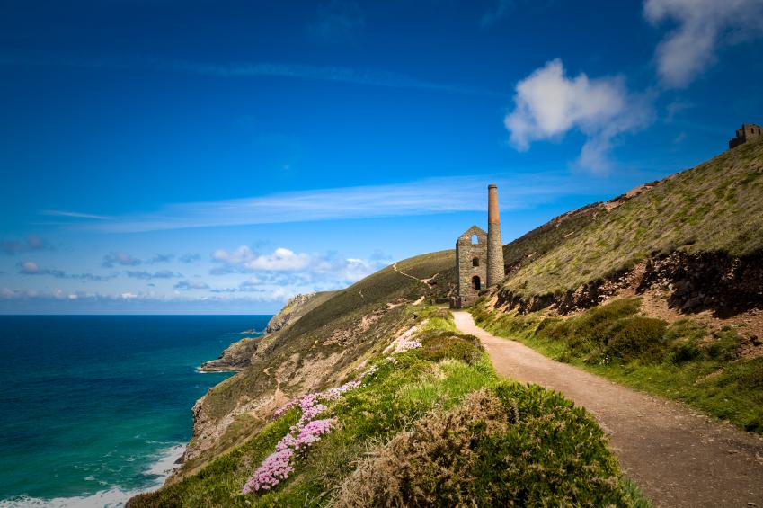 Disused Wheal Coates tin mine near St Agnes Head in Cornwall
