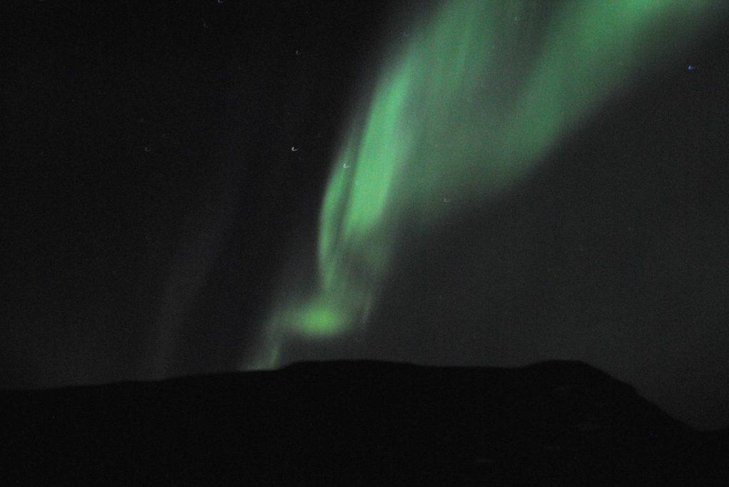 The Aurora at Tjaktja on the Kungsleden in Sweden. Thanks to John Cobb.