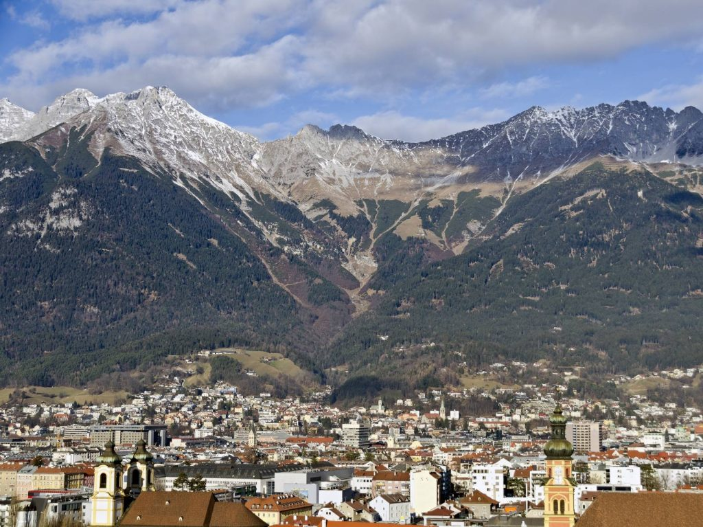 Innsbruck with its alpine backdrop