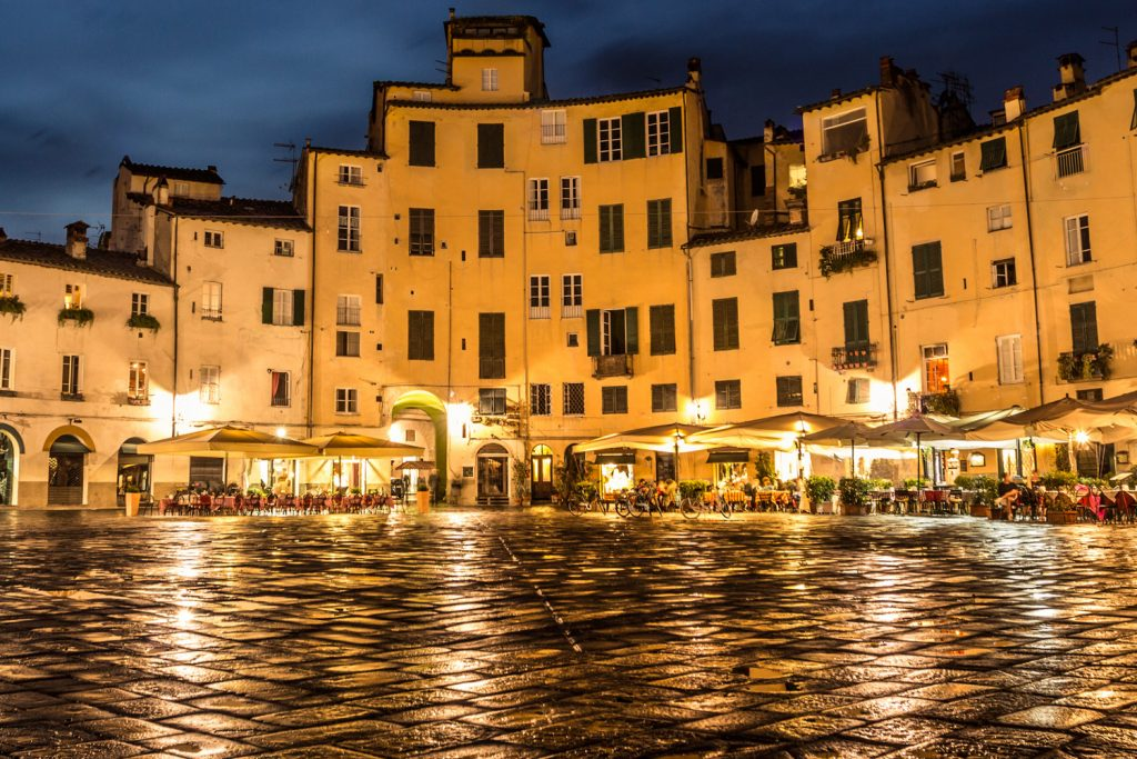 The Piazza Anfiteatro in Lucca.