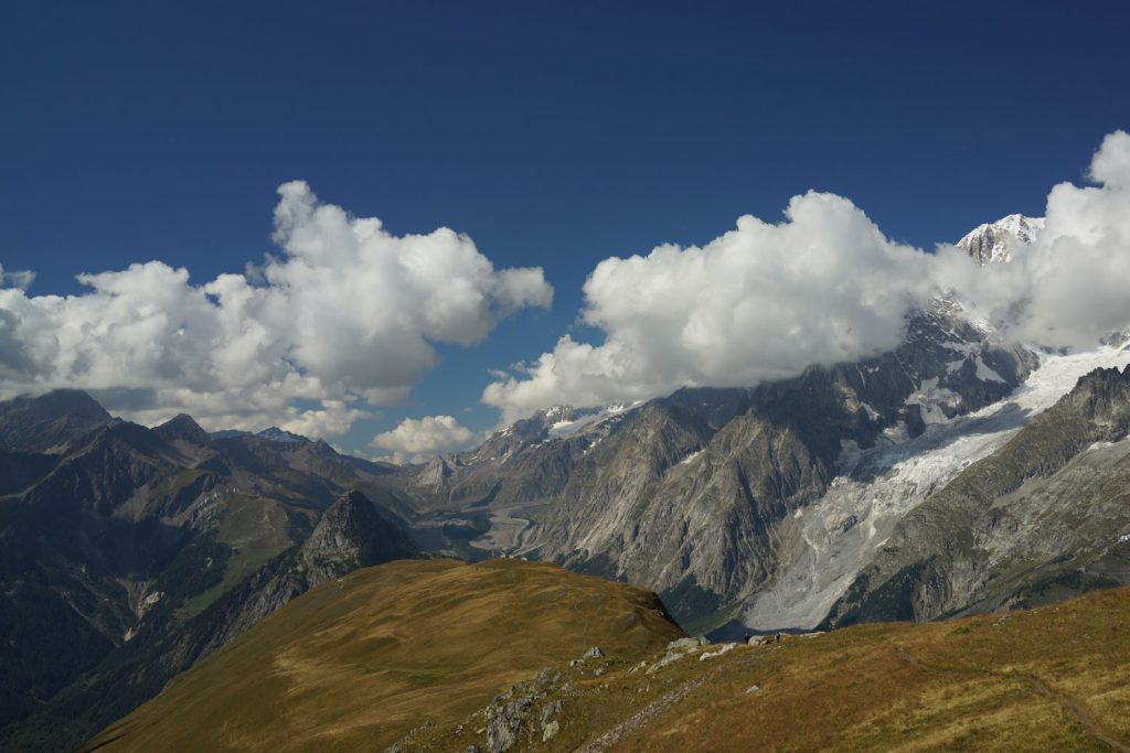 Refugio Bonatti to Courmayeur is a classic Mont Blanc walk.