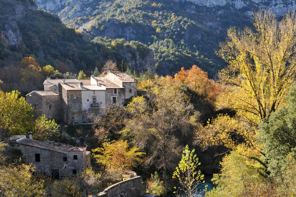 A village in the Cevennes mountains.
