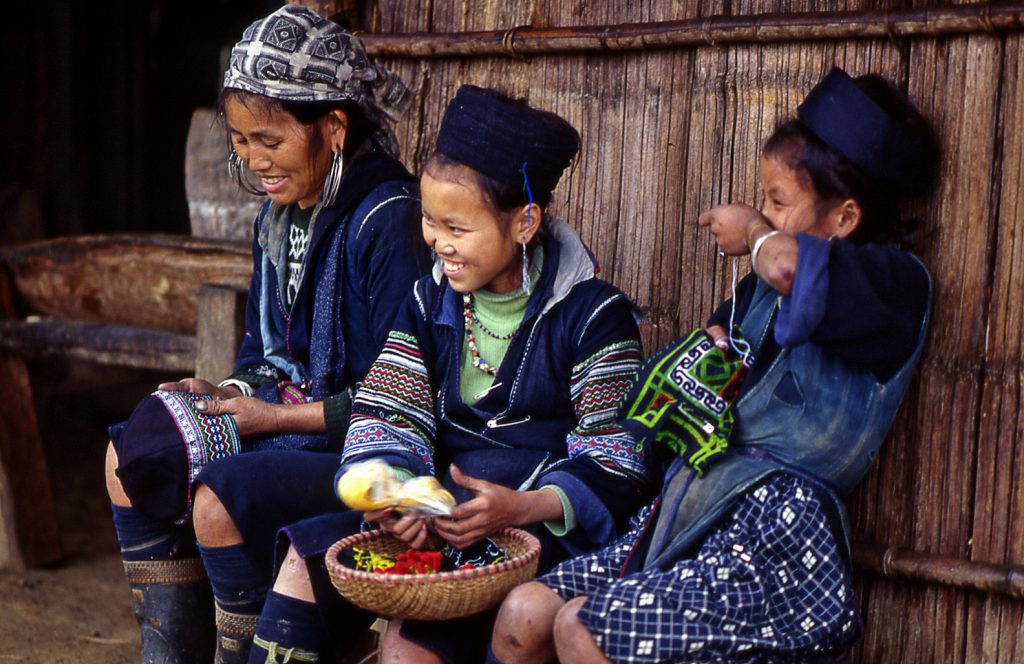 A number of ethnic minority groups live in the Sapa Valley.