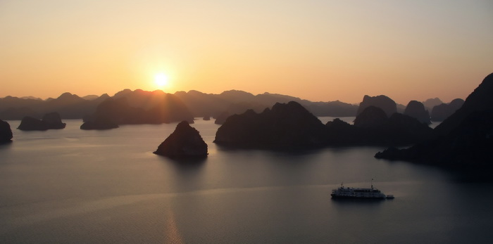 Cruise the inlets of Halong Bay, a UNESCO World Heritage Site.