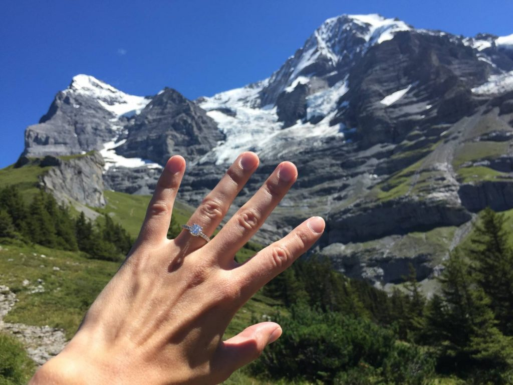 A marriage proposal in the Bernese Oberland.