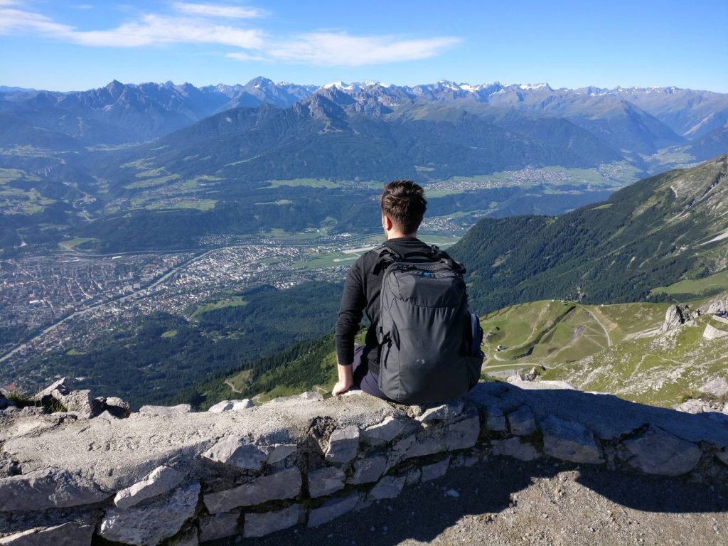 Looking towards the Tyrolean Alps above Innsbruck