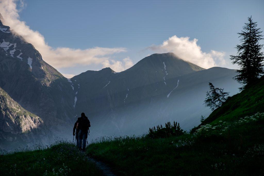 Hiking on the Tour du Mont Blanc