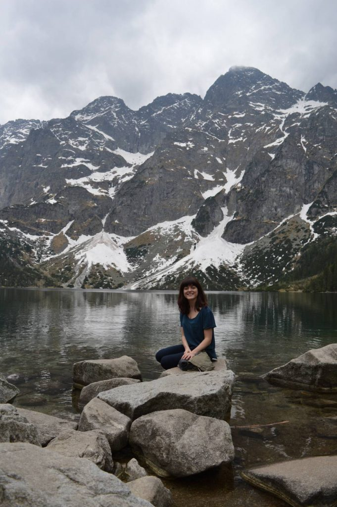 Rachel at Morskie Oko lake in Poland.