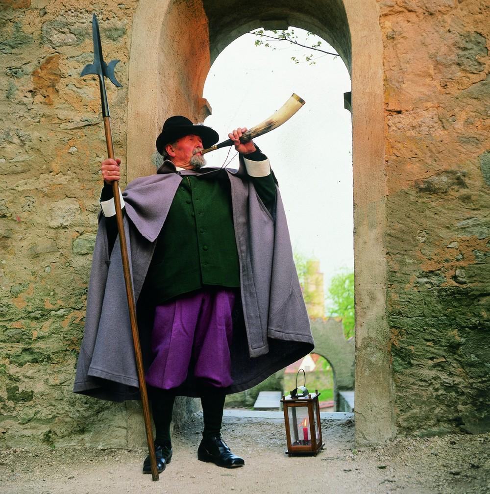 A nightwatchman in Rothenburg