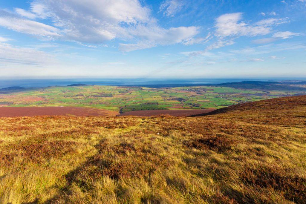 In the Wicklow hills looking towards Greystones.