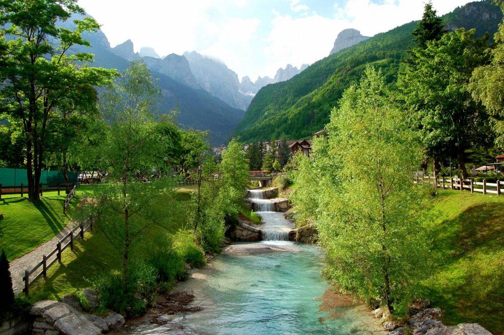A river scene in Molveno.