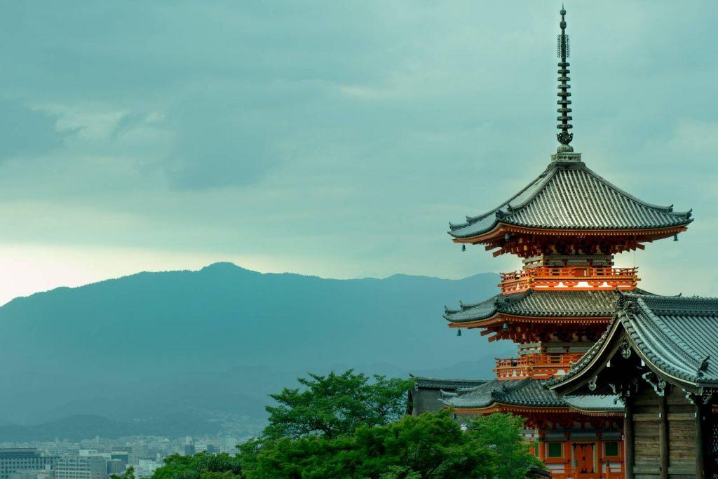Kiyomizu-dera Temple in Kyoto.