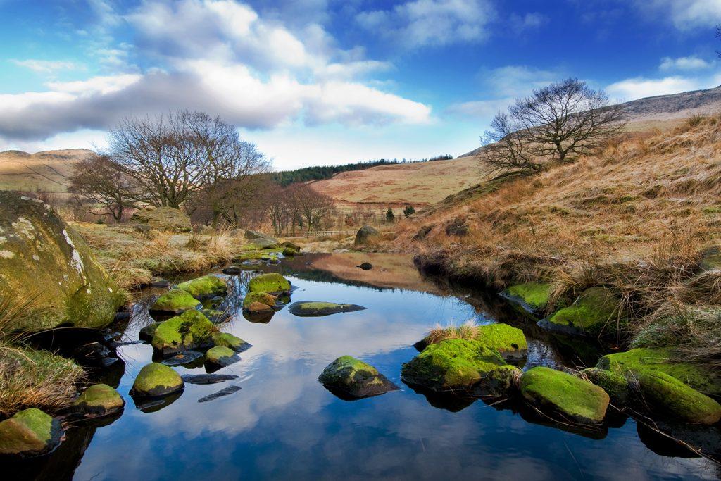 Peak District landscapes.
