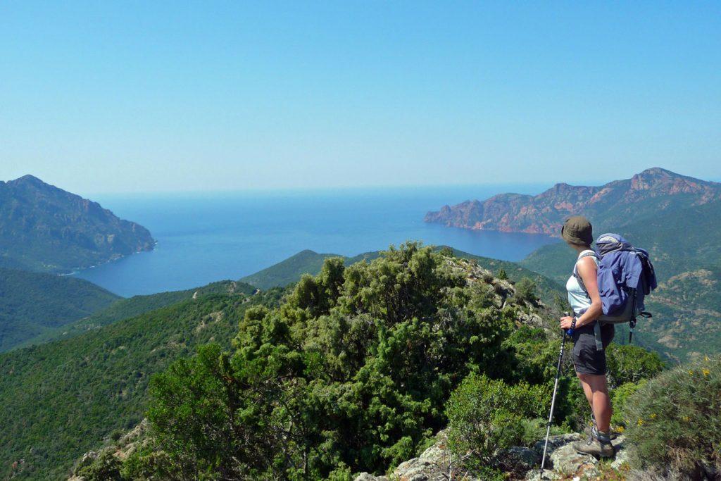 Sea views along the Mare e Mare Nord trail, Corsica