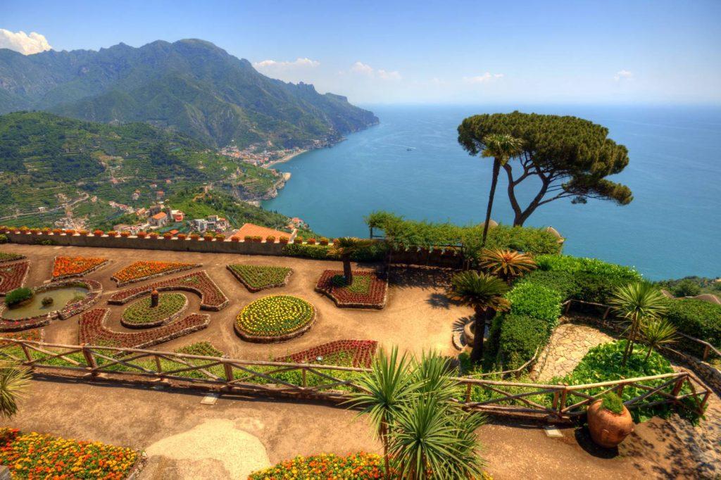 Ravello along the Amalfi Coast.