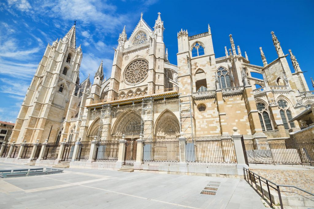 Leon Cathedral, one of the sights along the Camino de Santiago.