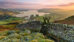 Sunset over Lake Windermere on the Windermere on Two Wheels Cycling Tour | Macs Adventure