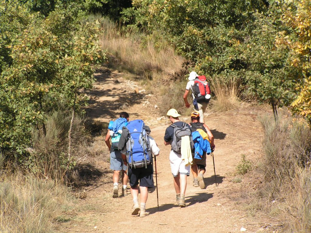Pilgrims on the Camino de Santiago.