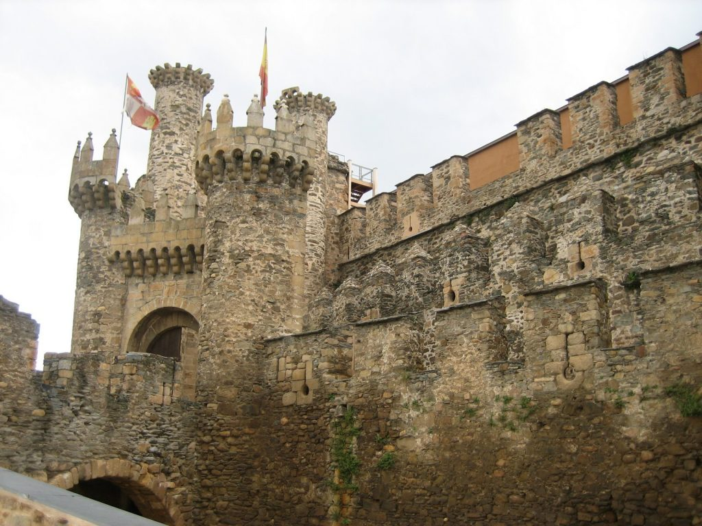 The castle in Ponferrada along the Camino de Santiago.