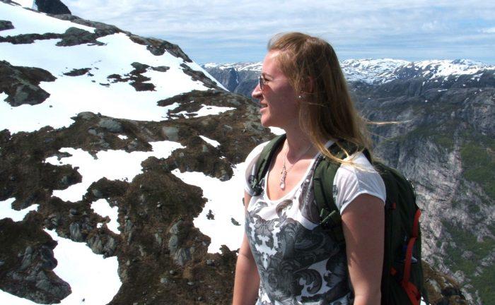 Kinga hiking in Norway
