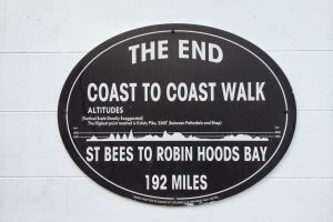 Coast to Coast sign at Robin Hood's Bay