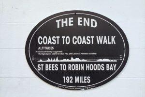 Coast to Coast sign at Robin Hood's Bay
