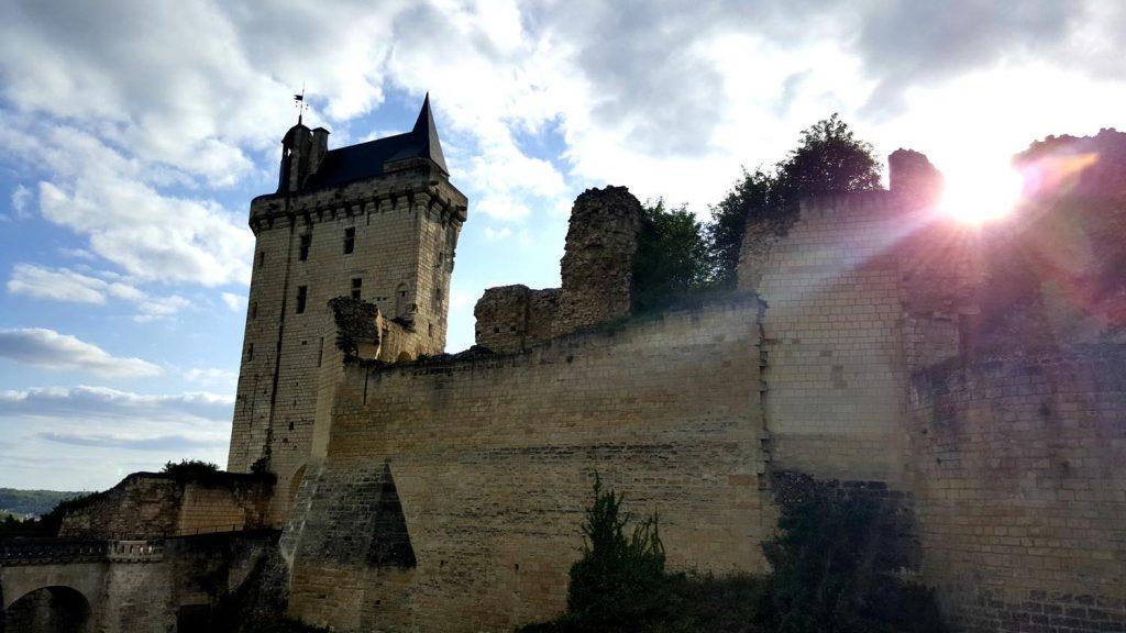 Chinon fortress.