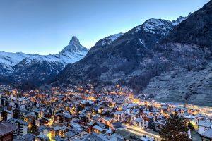 Matterhorn looms over Zermatt
