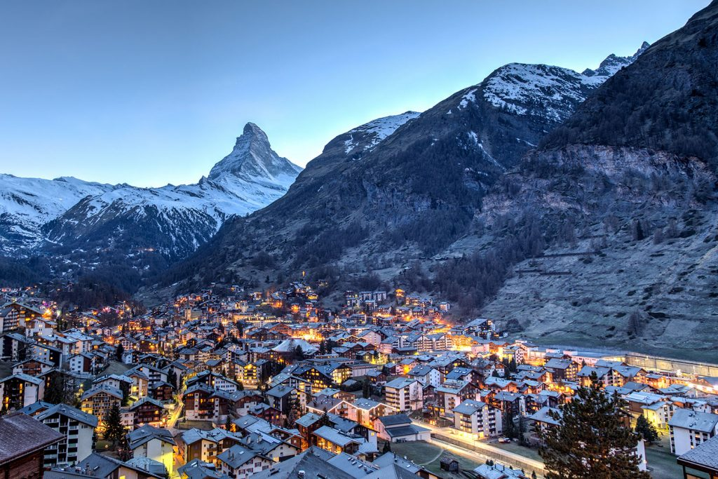 Matterhorn looms over Zermatt