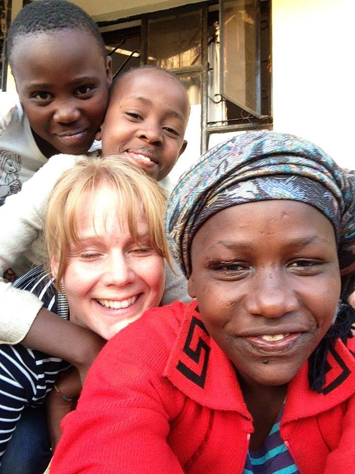 Hayley with some of the gang at Karama Orphanage
