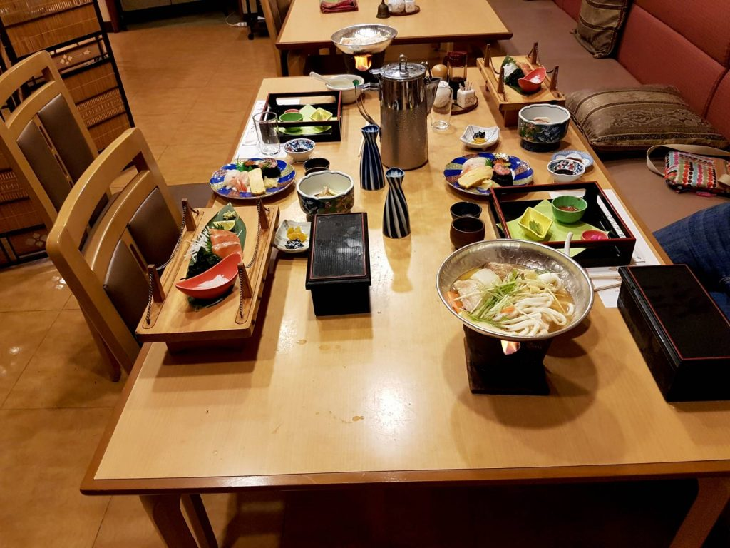 Walking in Japan - Traditional Japanese Meal at a Ryokan
