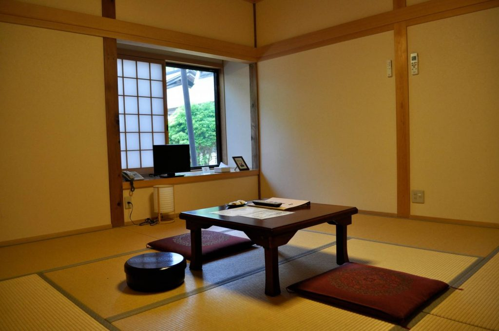 Walking in Japan - Typical Bedroom when staying in a Buddhist temple on the Shikoku Trail