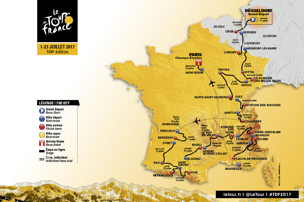 Map Of France Facts.18 Things To Know About The Tour De France 2017