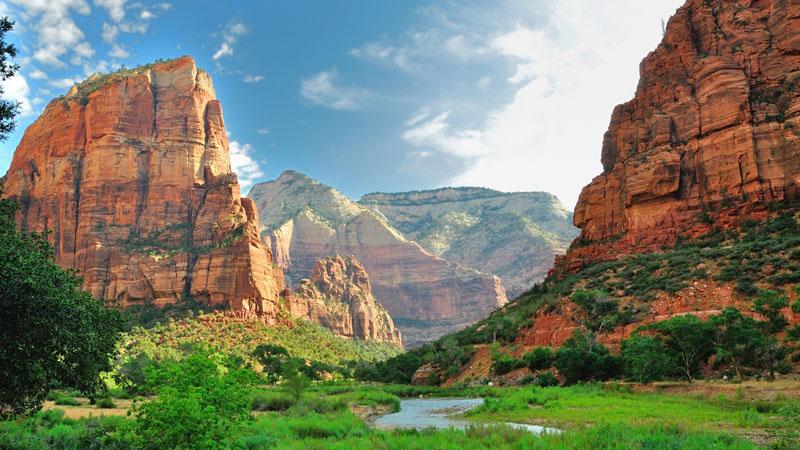 High red peaks of Zion national park, Utah