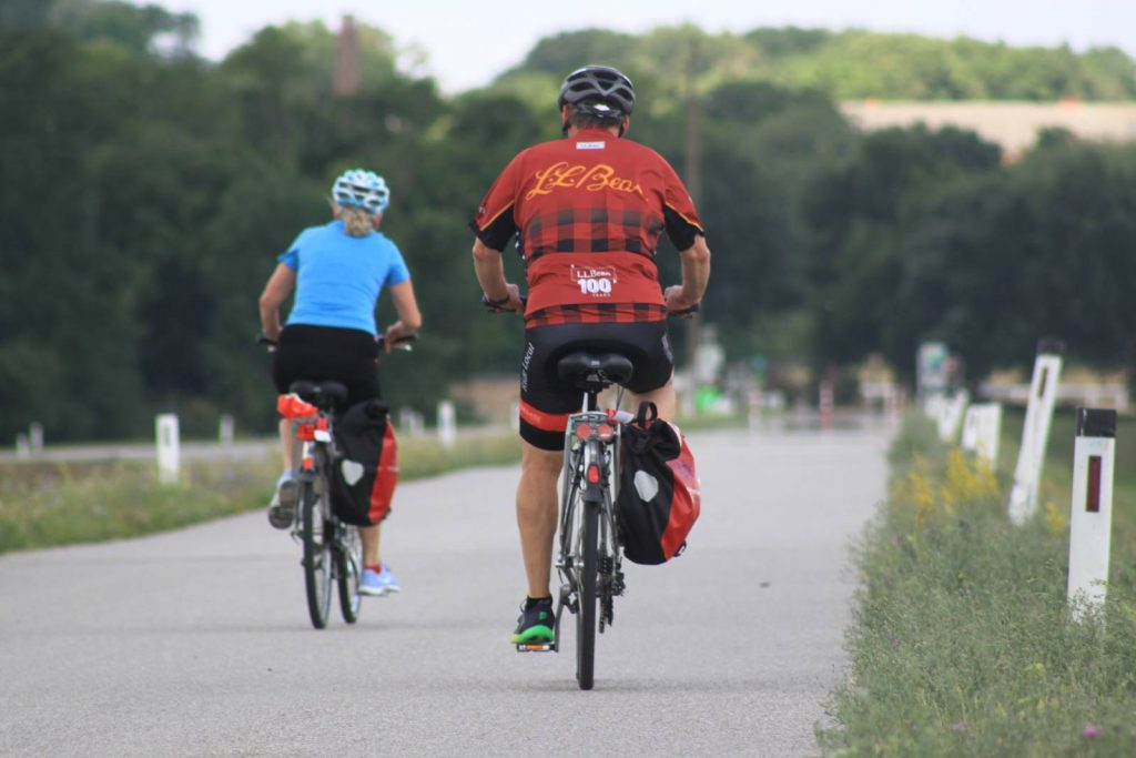 two cyclists on the Danube Cycle Path