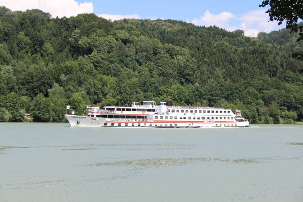 Large river boat on the River Danube