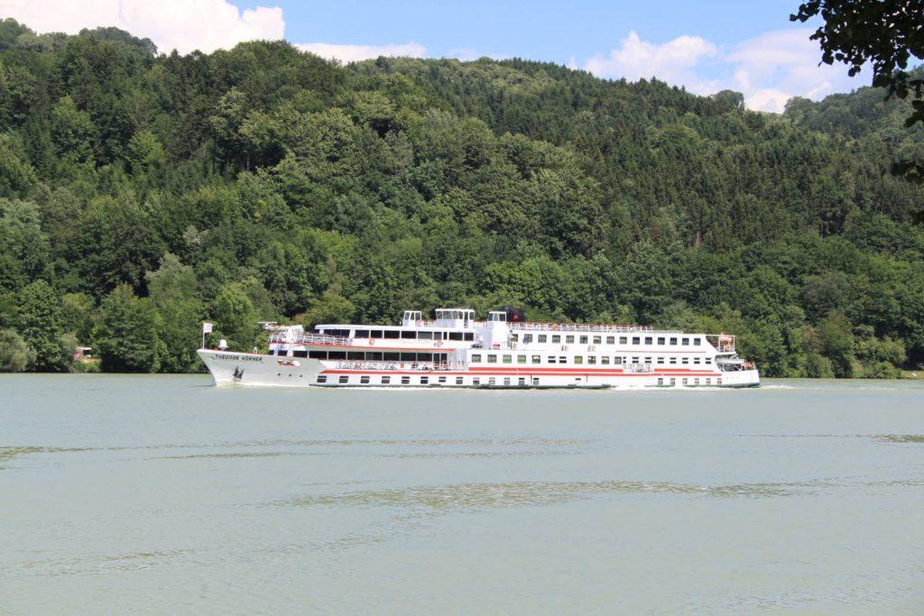 Large river boat on the River Danube