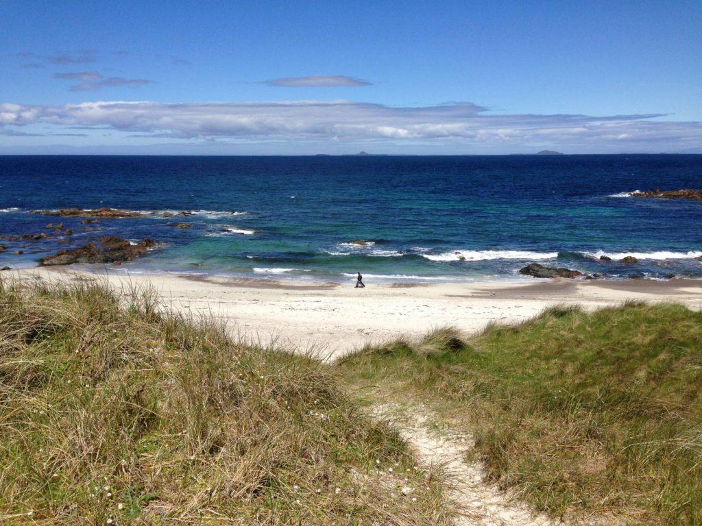 white beach on Iona Scotland