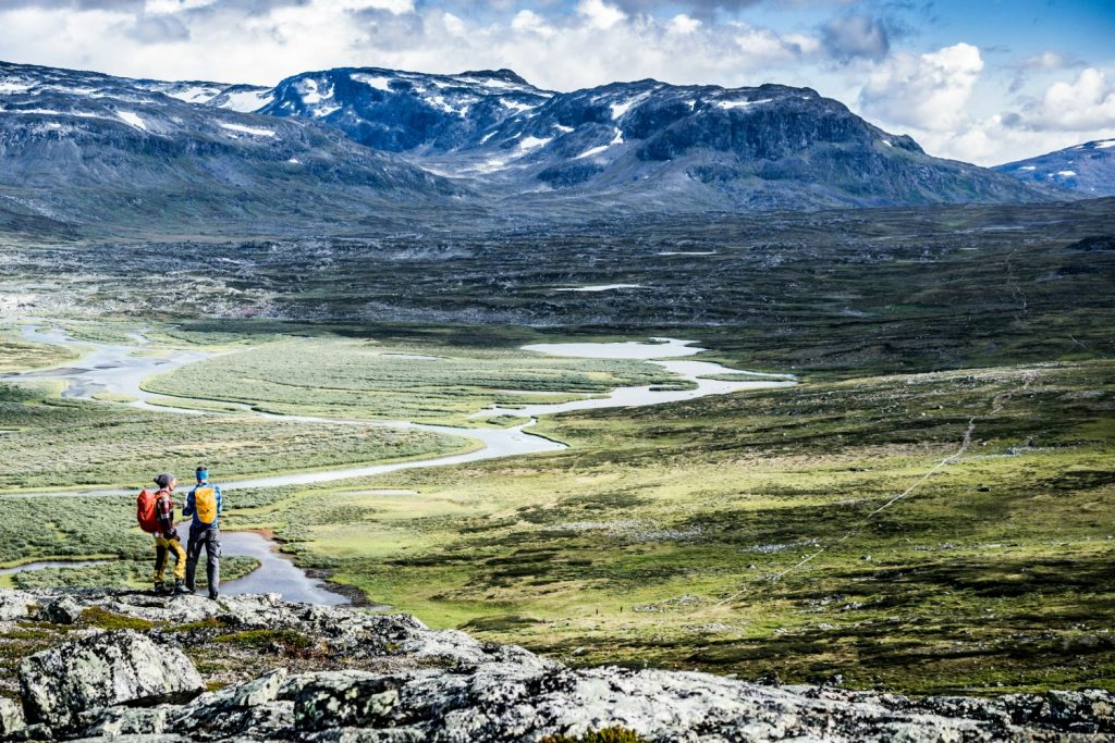 Beautiful wild scenery on the Kungsleden Trail, Sweden