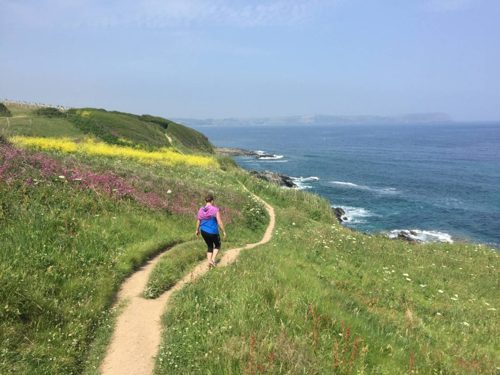Hiker on the South West Coast Path