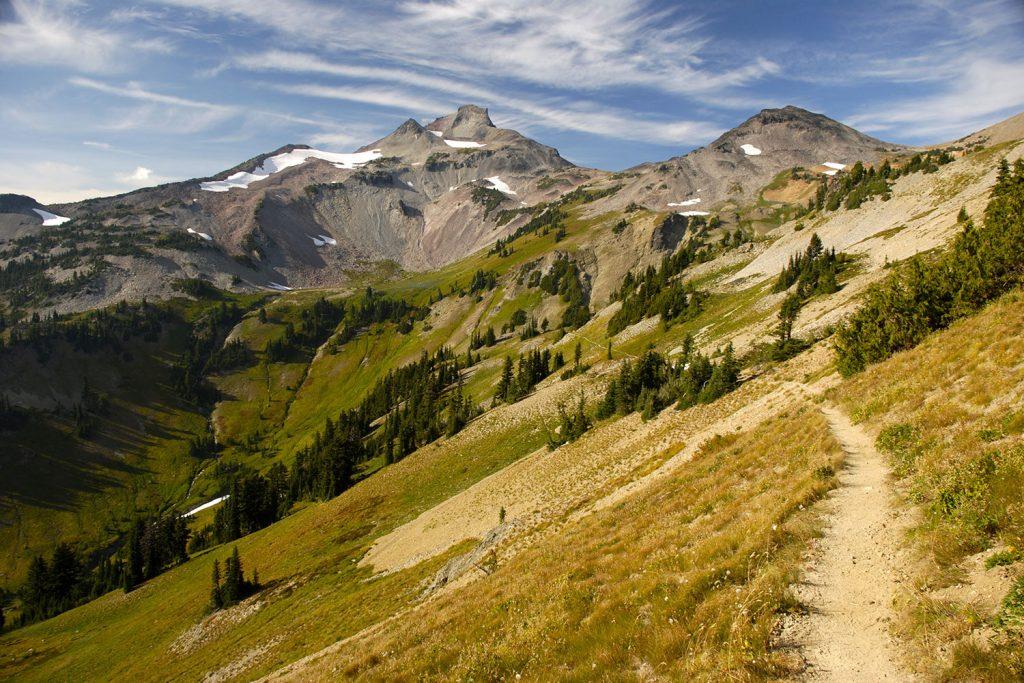 Trail runs through wild scenery