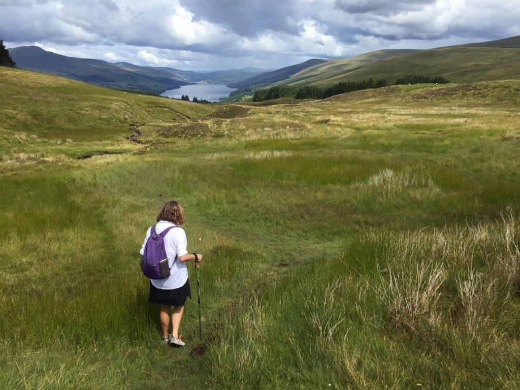Farming track toward Loch Tay on the way to Ardtalnaig