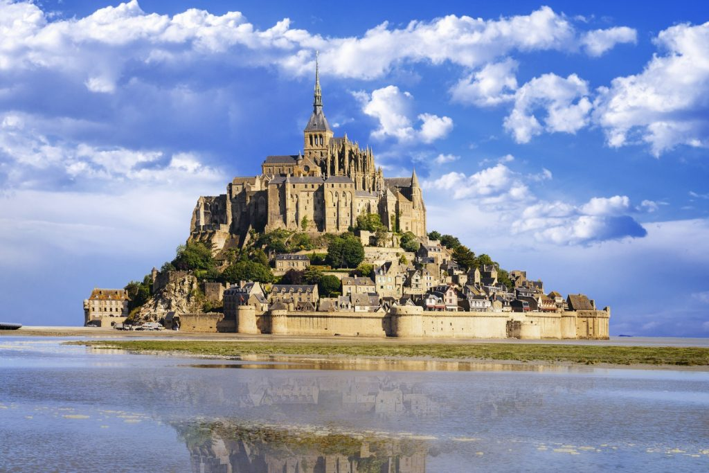 Mont St Michel and Seascape