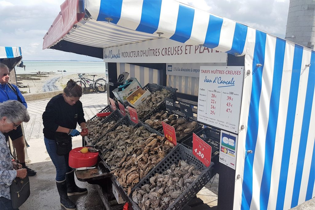 Oyster market Cancale, Brittany