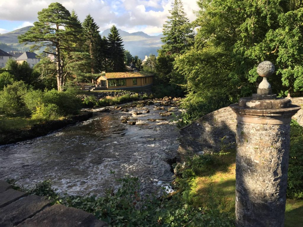 waterfalls at the falls of Dochart